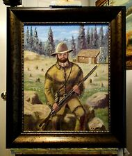 THE MOUNTAIN MAN original oil painting  by Richard R. Nervig