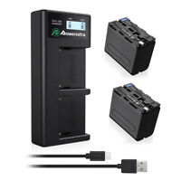 8800mAh NP-F970 Battery + LCD Charger for Sony NP-F950 NP-F960 CCD-SC55 TR516