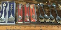 vintage souvenir spoon lot of 10 European Countries