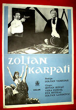 KÁRPÁTHY ZOLTÁN 1966 HUNGARIAN KOVACS LATINOVITS RUTTKAI EXYU MOVIE POSTER 2