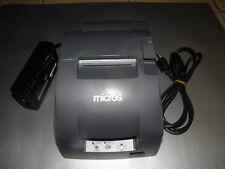 MICROS Epson TM-U220B Serial Dot Matrix Receipt Printer M188B w power supply