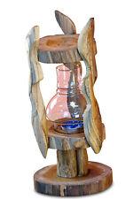 Lantern Glass Large Wood Tealight Holder Garden Patio Candles Mount