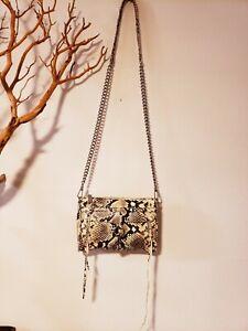 REBECCA MINKOFF EMB.Leather S/S Handbag-NWOT