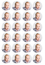 24 X Personalised Edible Cupcake Toppers Any Image/design Your Logo Pre-cut