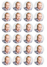 24 x Personalised Edible Cupcake Toppers , Any image/design your logo Pre-cut