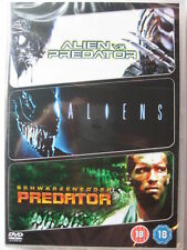 Alien Vs Predator / Aliens / Predator (DVD, 2009, 3-Disk Set) NEW Sealed PAL
