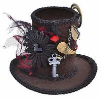 steampunk mini top hat stovepipe gothic mad hatter halloween