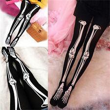 Trendy Women Charming Sexy Skeleton Tattoo Socks Pantyhose Stockings Tights 、Pop