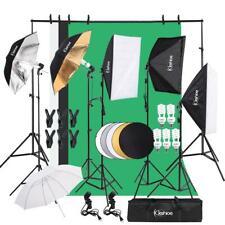 Photo Studio Photography Lighting Kit 3 Umbrella 3 Softbox 3 Backdrop Stand