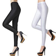 Girls Slim Shiny Pants Stretch 2XL Size Ice Silk Leggings for Women 2 peace