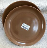Set of 2 Iroquois CASUAL-BROWN  Dinner Plates EXCELLENT