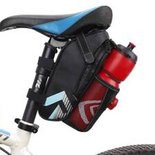 Cycling MTB Bike Bicycle Saddle Bag Seat Pack Pannier Water Bottle Holder Cage