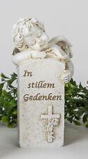 ☼ Formano Engel Trauer In stillem Gedenken beige Ca.15 Cm Urnengrab 707604