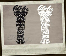 Tiki tikis 2 pièces autocollant sticker Original Holy garage loose Aloha Hang 8