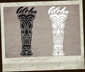 Tiki Tikis 2 Stück Aufkleber Sticker Original Holy Garage Loose Aloha Hang 8