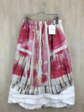 COMME des GARCONS Floral Pattern Long Skirt S White Polyester RA-S004 Japan F/S