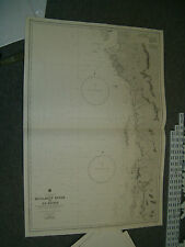 Vintage Admiralty Chart 3481 Bay Of Bengal - Moulmein River to Ye River 1951 edn