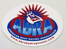 GENUINE ABRA AMERICAN BOAT RACING ASSOC HYDROPLANE STICKER