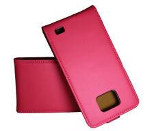 Premium Flip Case Tasche in pink für Samsung i9100 Galaxy S2 Hülle Schutzcase