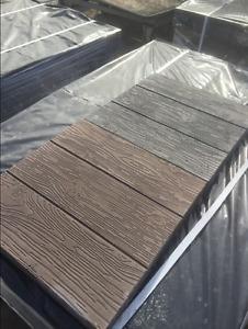 CONCRETE PAVING MOULD-SLAB IMITATION WOOD double - 600x150x60mm + 1kg pigment '