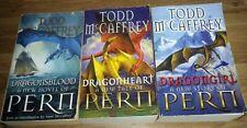 Todd McCaffrey (The Dragon Books x 3), DRAGONGIRL - DRAGONHEART - DRAGONSBLOOD