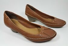 Clarks tan leather low heel shoes uk 4 eu 37
