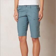 prAna Larissa Knicker Bermuda Shorts Smokey Blue Cotton Spandex Size 6