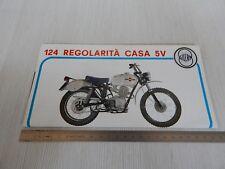 BROCHURE DEPLIANT ORIGINALE MOTO GILERA 124 5V REGOLARITA' CASA PROSPEKT