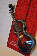 VIOLIN FIDDLE MINIATURE ORNAMENT CHRISTMAS DECORATION GIFT