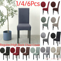 1/4/6Pcs Stretch Dining Chair Covers Slipcovers Removable Chair Protective Cover