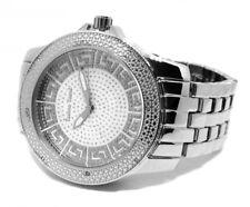 Techno Trend Iced Griego Diseño PAVE MICRO-cara HipHop Reloj para hombre