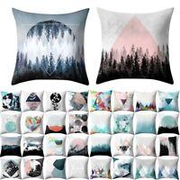 Pillow polyester Square Home Decor Throw Pillow Case Sofa Waist Cushion Cover