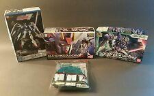 3 Bandai Gundam models w/ Action Base 1