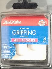 "538163 TV32013 1/2"" White Gripping Leg Tips"