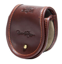 Wychwood NEW Leather Faux Fur Inner Fly Fishing Reel Pouch - Free P+P