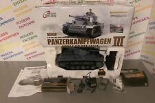 HENG LONG R/C 1:16 German Panzer III Char de combat 3848-1 - Utilisé En Boîte non testés