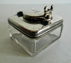FINEST QUALITY ANTIQUE GEORGIAN STERLING SILVER LOCKDOWN TRAVEL INKWELL - 1818