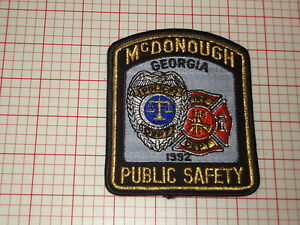 McDonough Georgia Public Safety Patch (T3)
