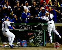 DAVID ROSS Signed Cubs 2016 World Series Foul Ball w/Rizzo 8x10 Photo - SCHWARTZ