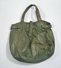 WOMENS LUCKY BRAND GREEN LEATHER PURSE BAG $120 tote handbag USED
