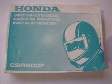 HONDA CBR600 1999 USO E MANUTENZIONE OWNER MANUAL INSTRUKTIEBOEK