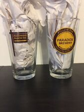Lot Of 2 NEW Paradox Brewery Pint Glasses Schroon Lake NY Adirondack Beer