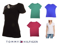 Tommy Hilfiger Women's Short Sleeve SLUB V-Neck T Shirt size/color variation