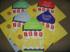 12 INCH GROOVES 5 LP's RARE SINGLES A LOT!!!