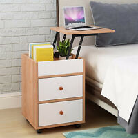 Nightstand Bedside Bedroom End Table with 2 Drawers Storage Shelf Stand Storage