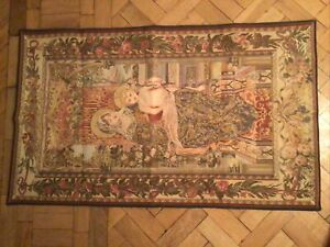 """Flemish Tapestry """"our Lady"""" 48 In X 29 In"""