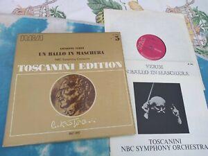 AT 300 Verdi Un Ballo In Maschera Toscanini Edition Vol. 5 RCA 3LP BOX SET MONO