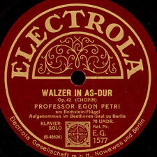 EGON PETRI -PIANO- Chopin: Walzer As-Dur Op. 42 / Liszt: Paganini-Etüde S9257