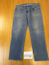 levi 501 feather destroyed USA grunge jean tag 42x34 Meas 37x30.5 19398F