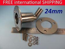 Stainless steel thru hull / exhaust skin fitting 24mm sim to Webasto Eberspacher